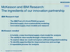 McKesson: A Holistic Supply Chain Management Solution | INFORMS