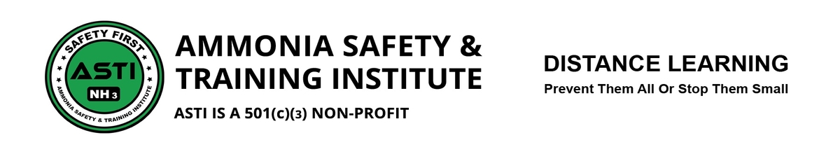 Ammonia Safety & Training Institute. Distance Learning