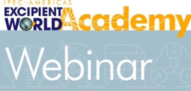 Excipient World Academy Webinar