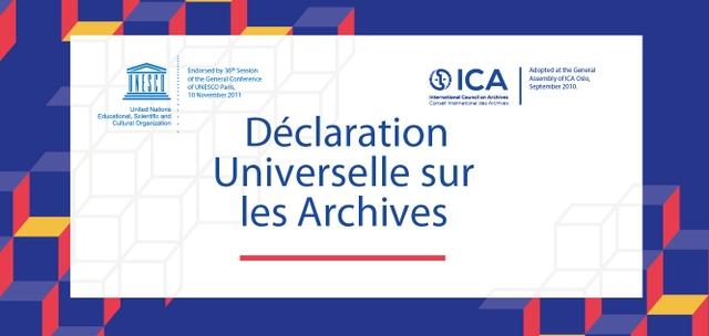 visuel du cours de l'ICA :Comprendre et utiliser la Déclaration Universelle sur les Archives