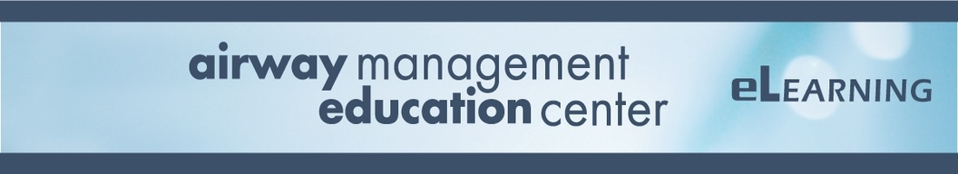 Top Page Banner for Airway Management Education Center eLearning